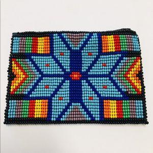 Handmade Mexican Beaded Coin Purse Huichol Art